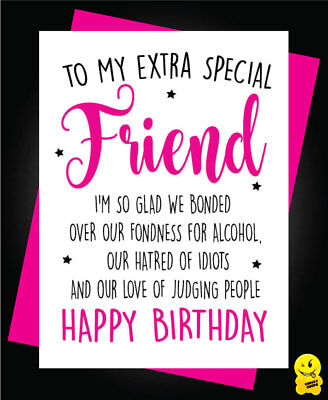 Funny Cheeky Happy Birthday Card Best Friend Bestie Novelty Girlie Girls C361
