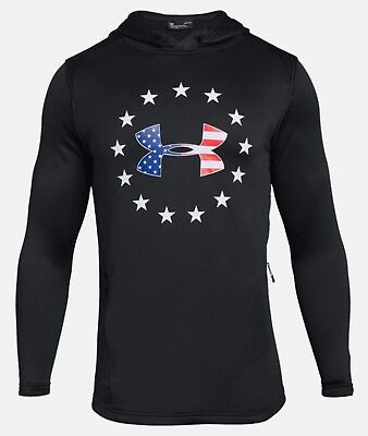 Under Armour Men's Black UA Freedom Tech French Terry Pullover Hoodie