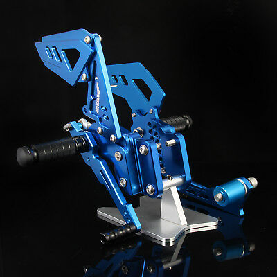 CNC Adjustable Rearset Foot Pegs Rear Set For Suzuki GSXR600/750 06  07 08 09 10