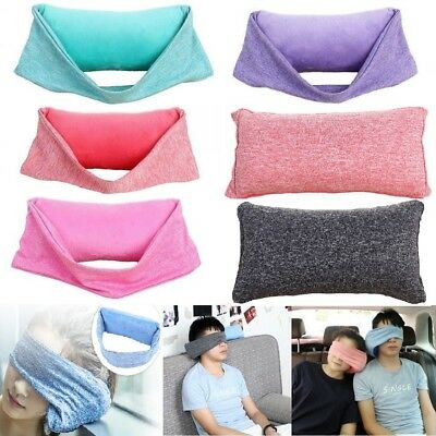 2 In 1Travel Pillow Soft Neck Support Pillow Head Rest Airplane Sleep Cushion US