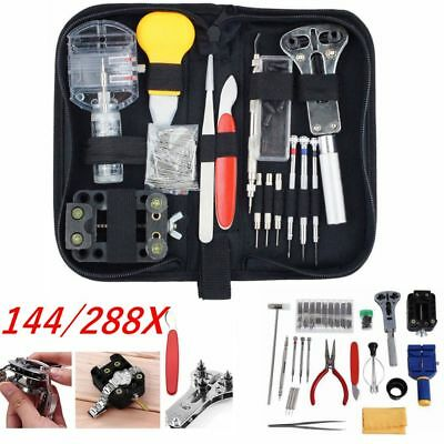 144/288pcs Watch Repair Tool Kits Set Watch Back Remover Case Opener Watchmaker