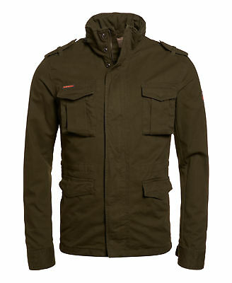 New Mens Superdry Rookie Heavy Weather Field Dark Khaki