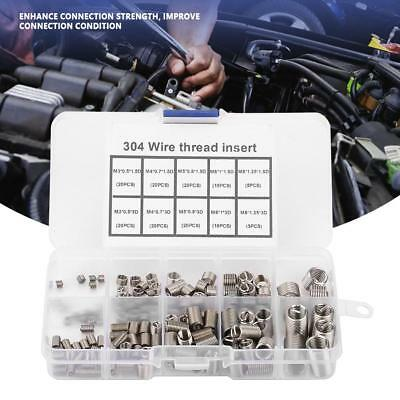 150pcs M3-M8 Helicoil 304 Stainless Steel Coiled Wire Screw Thread Repair Insert