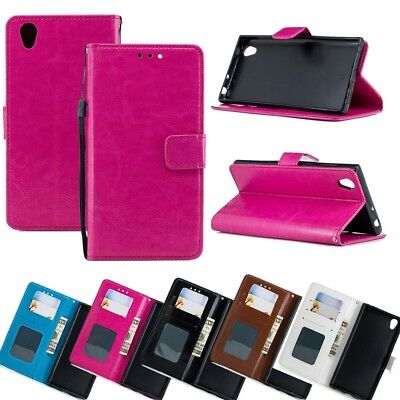 Flip Wallet PU Leather Case Stand Phone Case Cover for Sony Xperia Huawei ASUS