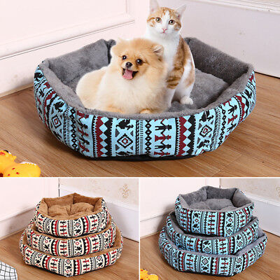Pet Cat Dog Nest Bed Puppy Soft Warm Cage House Winter Sleeping Cushion Mat Pad