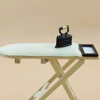 Miniature Bedroom Ironing Board Table for Dollhouse NEW