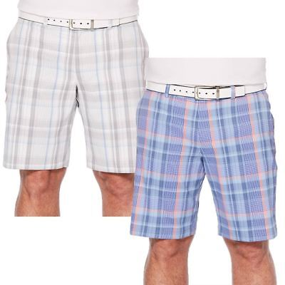 Callaway Golf 2018 Stretch Madras Plaid Shorts With Waistband Mens Golf Shorts