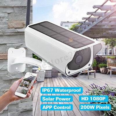 Waterproof Solar Security Camera 1080P 2MP IP Wireless WIFI Camera Night Vision