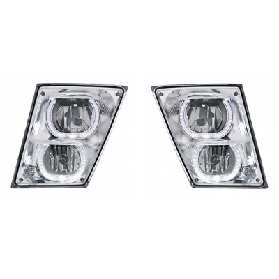 Volvo VN / VNL Fog Driving Lights / White LED Accent Lights / 2003 - 2017 / Pair