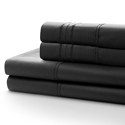 1800T SINGLE/DOUBLE/QUEEN&KING Size(Flat,Fitted,Pillowcase)QUALITY BED SHEET SET