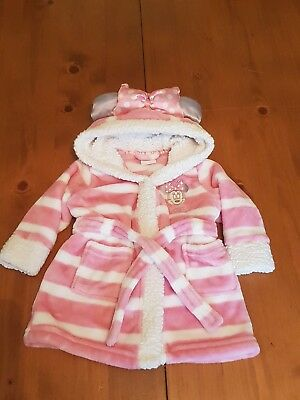 Disney @ Matalan Baby Girl Age 3-6 Months Minnie Mouse Dressing Gown