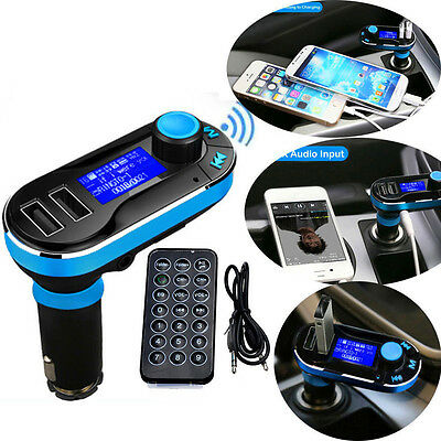 New Bluetooth Car Kit Wireless FM Transmitter Dual USB Charger Audio MP3 Player#