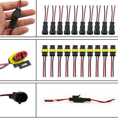 2 Pin Car SUV Boat Wire Connector Plug Terminal Sealed Waterproof Electrical