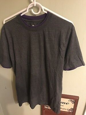 Taco Bell Live Mas Gray Purple Employee Work Uniform Shirt Men's Large