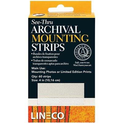 Lineco See-thru Archival Mounting Strips 60/pkg-4""