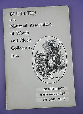 National Association of Watch and Clock Collectors Bulletin #184, 1976