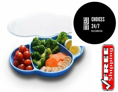 Baby Plate Suction Dish for Toddlers Grabease Utensils Silicone 100% Safe NEW