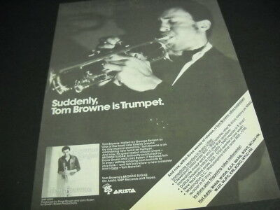 TOM BROWNE is Trumpet with BROWNE SUGAR original 1979 PROMO POSTER AD mint cond