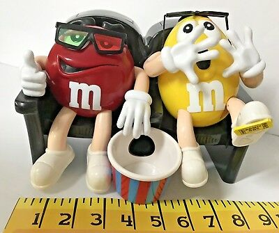 M&M's Limited Edition At The Movies 3-D Candy Dispenser Collectible Black Seat