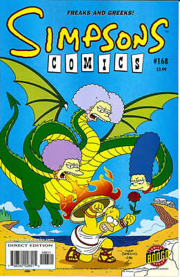 Simpsons Comics #168 (Bongo 2010) Vf+/nm- First Print Bagged And Boarded