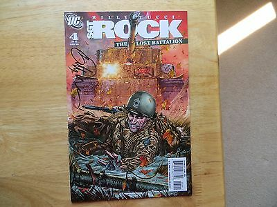 2009 Vintage Sgt Rock The Lost Battalion # 4 Signed By Billy Tucci  With Poa