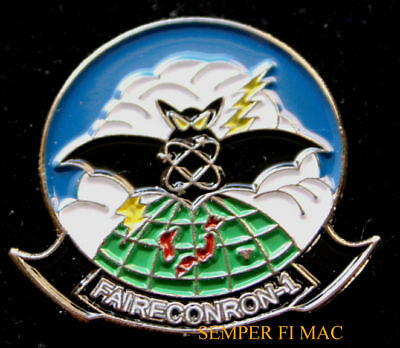 * FAIRECONRON VQ1 VT LAPEL HAT PIN US NAVY World Watchers NAS Whidbey Island NR