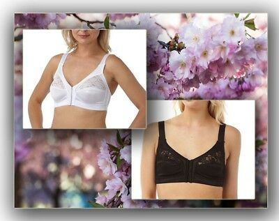 Ladies Women's Marlon Front Fastening Soft Cup Non Wired Bra Size 34-48 Cup B-E