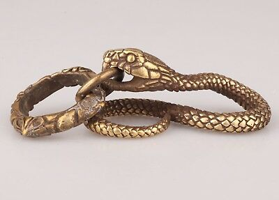 Ancient China Bronze Statue Pendant Snake Mascot Collection Gift