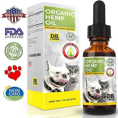 Organic Hemp Oil for Dogs and Cats Pets Stress Anxiety Pain Relief 500mg Natural