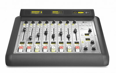 AXIA Livewire 2001-00275 IQ main console surface - 8 fader audio mixer broadcast