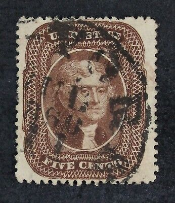 CKStamps: US Stamps Collection Scott#30A 5c Jefferson Used CV$300