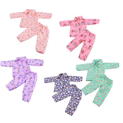 5x Doll Pajamas Clothes Flowers for 18inch American Girl Our Generation Doll