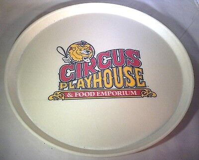"Vintage Camtray Circus Playhouse & Food Emporium 16"" Round Tray"
