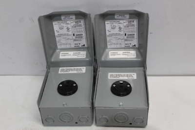 Lot of 2- Outdoor Power Outlet U013P
