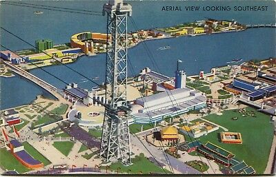 (#511) Aerial View of A Century of Progress 1933 Chicago Worlds Fair Postcard