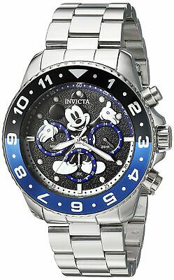 Invicta Disney Limited Edition Men's Chronograph Watch Blue Stainless 24952