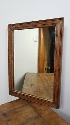 Antique Glass Wood Frame Wall Mirror Uk Made