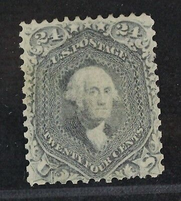 CKStamps: US Stamps Collection Scott#70b 24c Washington Unused NG Reperf, Thin