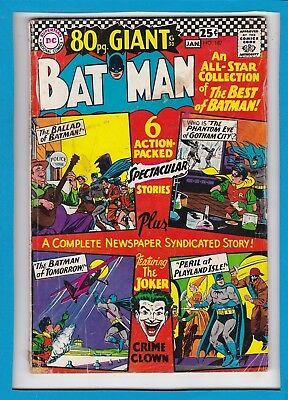 BATMAN #187_JANUARY 1967_VERY GOOD_JOKER_SILVER AGE DC 80 Pg GIANT (G-30)!