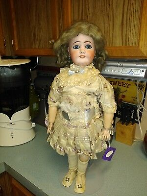 """Beautiful 23"""" Antique French Bisque Head Doll Limoges France!!"""
