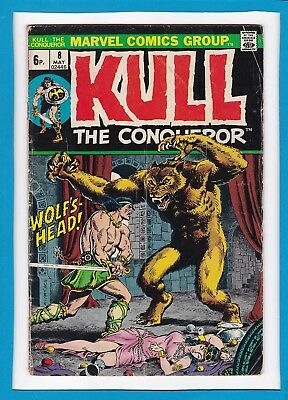 "Kull The Conqueror #8_May 1973_Very Good_""wolf's-Head""_Bronze Age Marvel_Uk!"