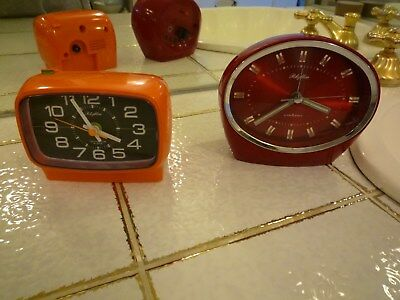 RHYTHM vintage clock Space Age 60/70er TOP & RARE  2 arten- orange - rot