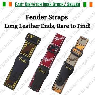 Guitar Strap Fender Classic Style Cotton Embroidery Material + Free pick holder