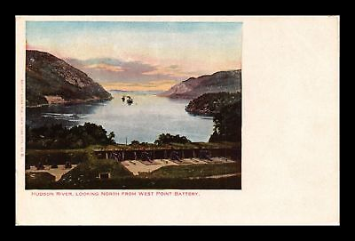 Dr Jim Stamps Us Hudson River View From West Point Battery New York Postcard