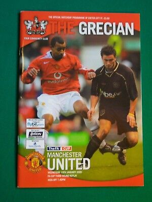 Exeter City v Manchester United, FA Cup 3rd Round Replay  19th January 2005