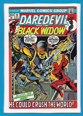 Daredevil And The Black Widow #94_December 1972_Very Fine_Indestructible Man!