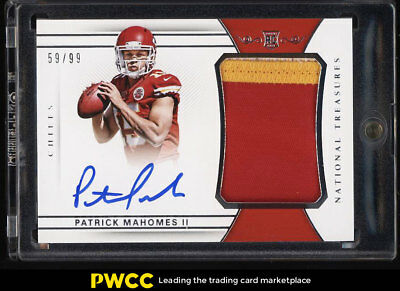2017 National Treasures Patrick Mahomes II ROOKIE RC AUTO PATCH /99 #161 (PWCC)