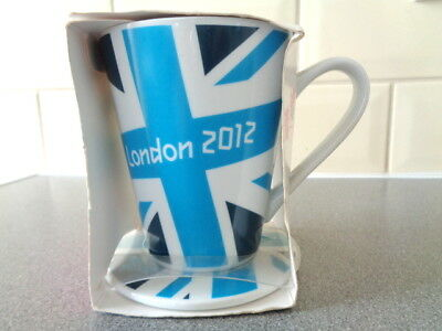 New in Box Official London 2012 Olympic Blue Mug & Coaster Set