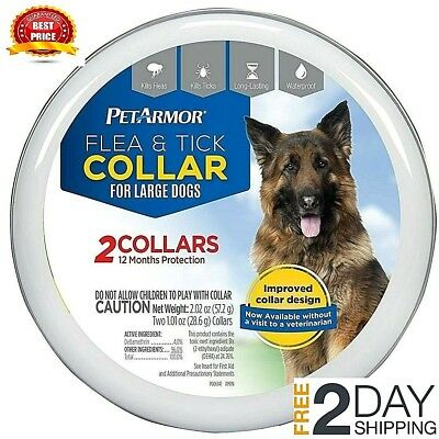 Petarmor 2-Pack Flea and Tick Collar for Large Dogs 12 Month Protection Seresto