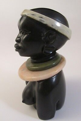 Vintage Hand Carved Nude Woman.Verdite Various Gemstones.Tribal. So.Africa  NR